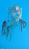 Female portrait study - Life drawing - Modèle vivant - Modelo vivo by Painting-Drawing-Artworks-Street Art-by Magnetic