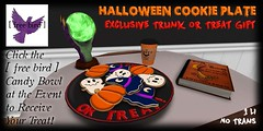 [ free bird ] Halloween Cookie Plate Ad - Trunk or Treat