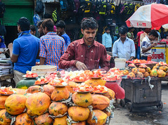 Traditional market in Old Delhi, India
