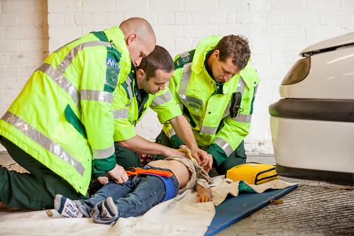 Paramedic scenario day, Glenside Campus, October 2016