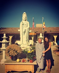 """Chùa Giác Ân: Tượng Quan Âm Bồ Tát với sư cô.  @dalailama Being """"needed"""" ... consists of a natural human hunger to serve our fellow men and women. As the 13th-century Buddhist sages taught, """"If one lights a fire for others, it will also brighten one's own"""