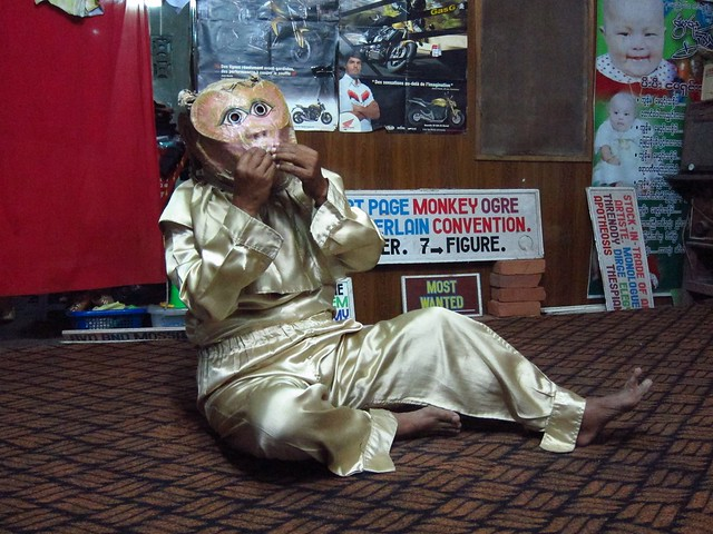 Monkey at Mustache Brothers (Don't Ask!)