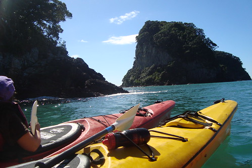 Rafting together - Seakayaking from Hahei, New Zealand