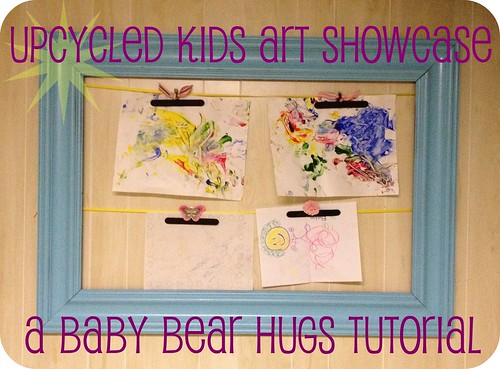 Upcycled kids art showcase header