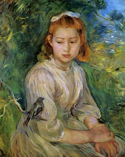 Berthe Morisot - Young Girl with a Bird