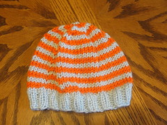 Blue and Orange Baby Hat 1