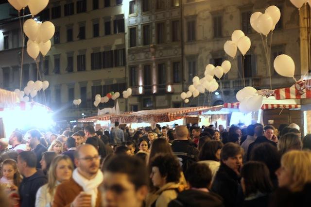 Notte Bianca food market at Santa Maria Novella