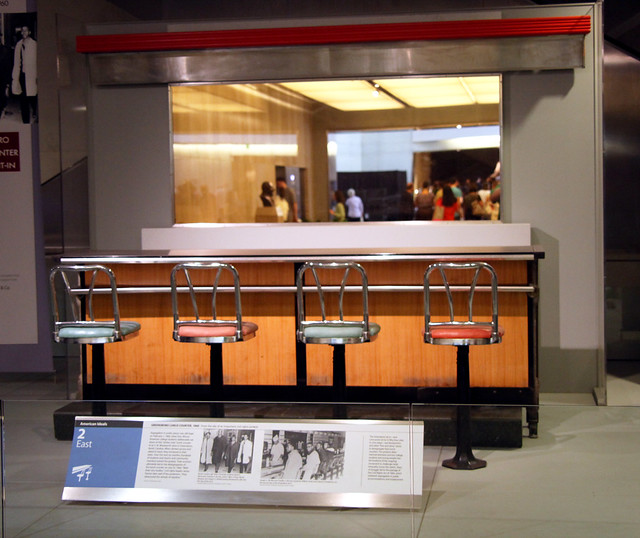 Woolworth lunch counter - Smithsonian Museum of American History - 2012-05-15 from Flickr via Wylio