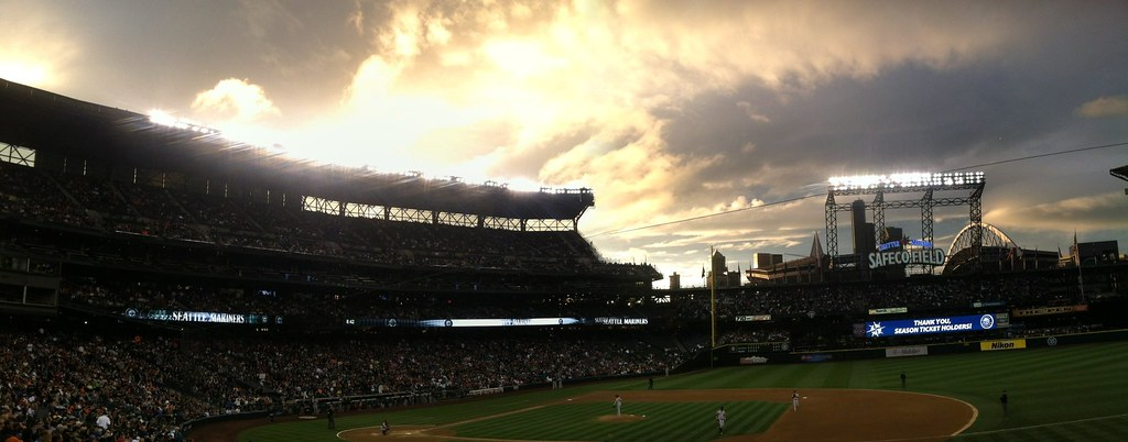 "image of ""Giants v Mariners"" sourced, through Creative Commons, from jaycoxfilm's Flickr account"