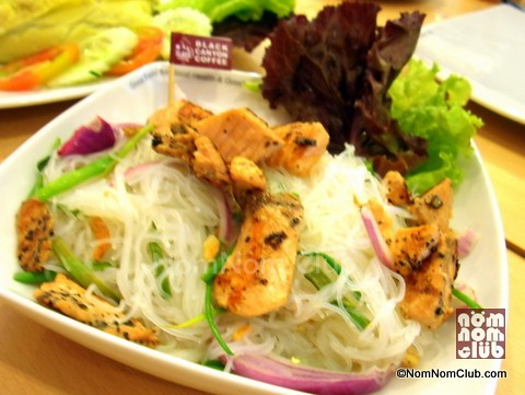 Spicy Glass Noodles and Grilled Salmon Salad (Yum Wun Sen Salmon) P188