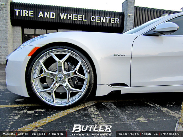 Fisker Karma with 24in Asanti AF164 Wheels
