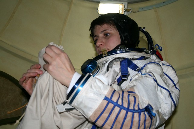 Training session in Soyuz simulator
