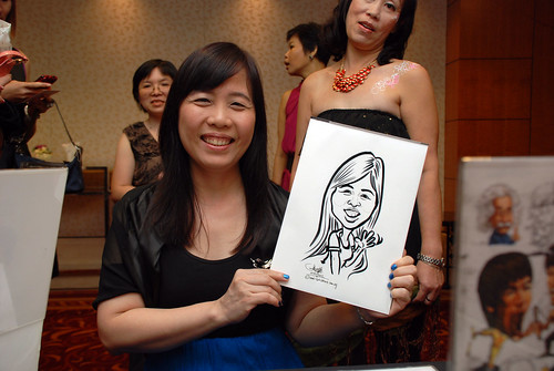 Caricature live sketching for The Bank of East Asia Staff Annual D&D - 2