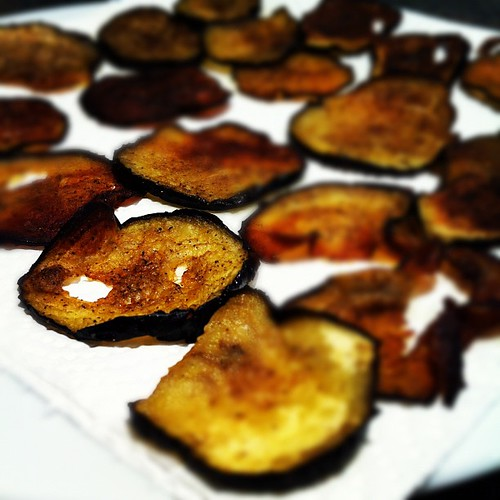 Eggplant crisps, the lengths you go to when you shy away from carbs... #paleo #crossfit
