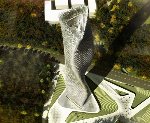 Тайваньский небоскреб усеют тысячи ветровых турбин и светодиодных ламп
