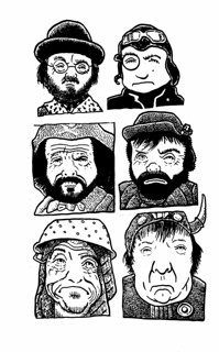 Time Bandits (ink)