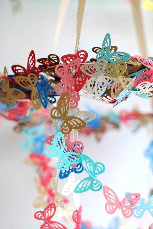 Dangling butterfly Chandelier