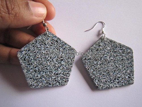Handmade Jewelry - Card Paper Earrings  (Album 3) (28) by fah2305