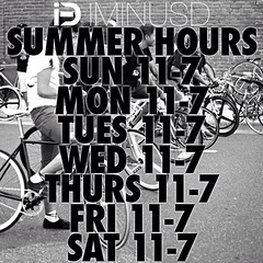 Summer hours are back! 11-7p everyday!