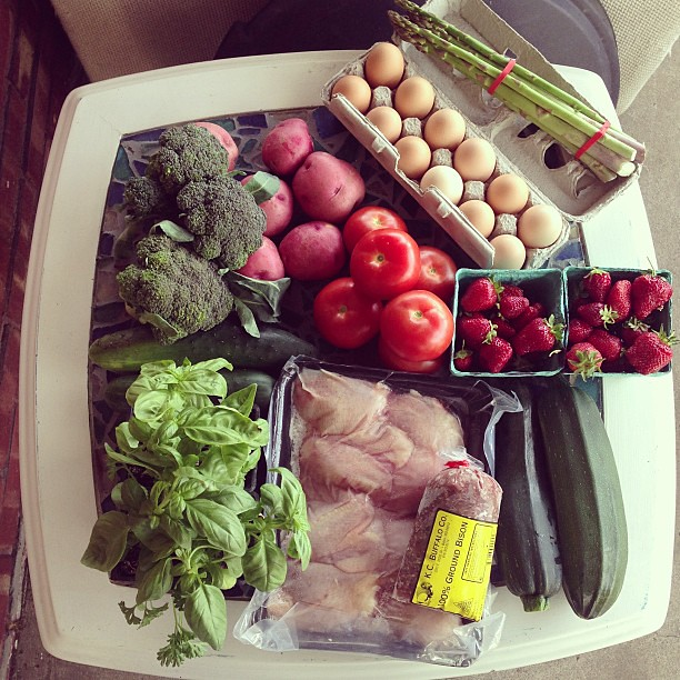 This week's market haul. #farmersmarket #kansascity #citymarket