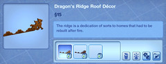 Dragon's Ridge Roof Decor