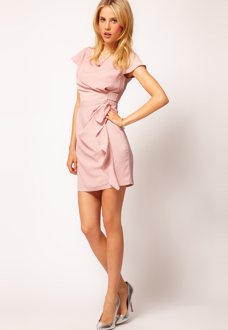 ASOS PETITE Exclusive Tulip Dress With Drape Side