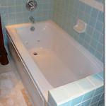 Whirlpool tub in bath