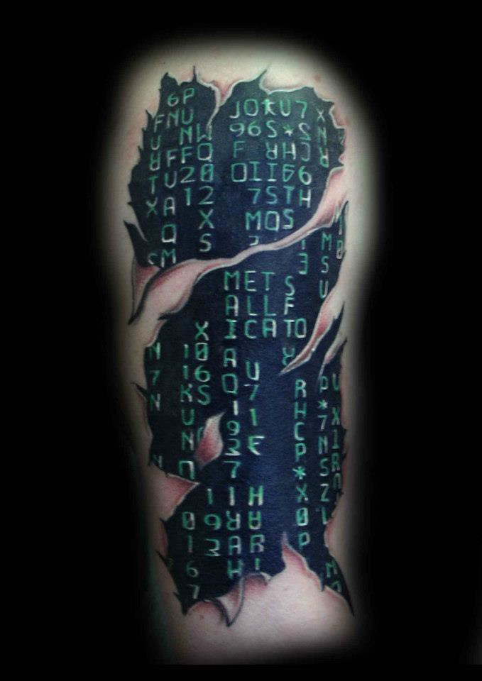 All Sizes Matrix Tattoo By Ray Tutty Flickr Photo Sharing