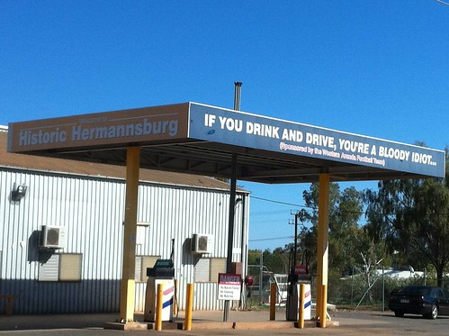 Sometime signs need to be blunt - at Hermannburg
