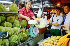 Durian stall, China Town, Bangkok, Thailand