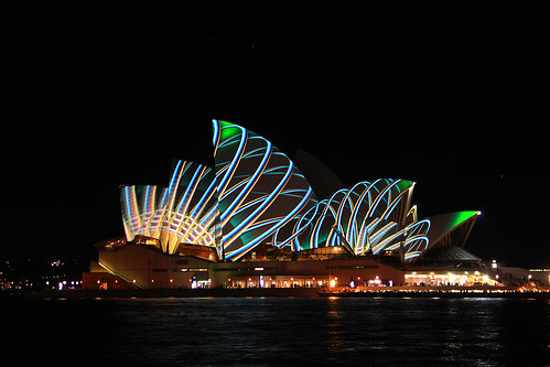 Alive with colour....Sydney Opera House