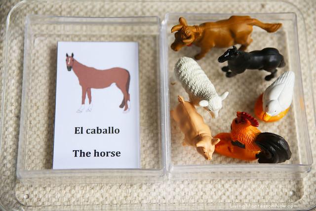 Farm Animal Spanish Matching Activity