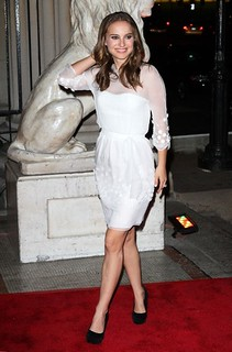 Natalie Portman Sheer Dress Celebrity Style Women's Fashion