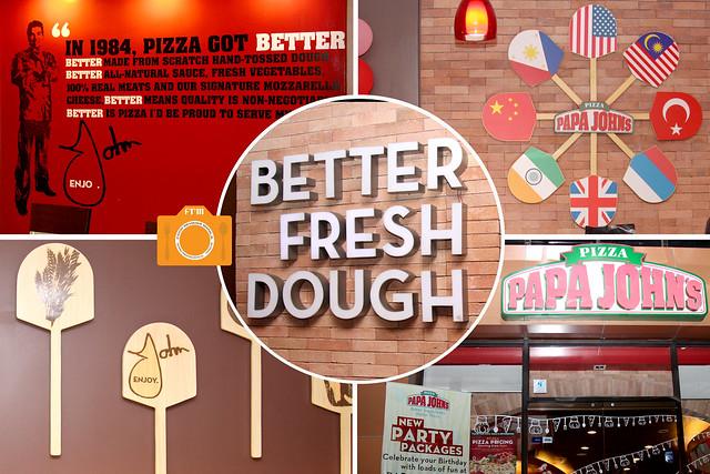 Papa john 39 s pizza the better fresh dough - Papa john s pizza garden fresh pizza ...