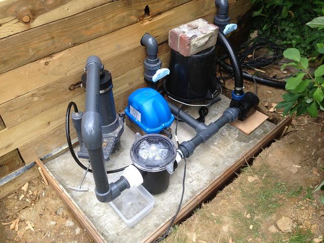 Pond re build flooding page 3 pond design and for Fish pond filtration setup