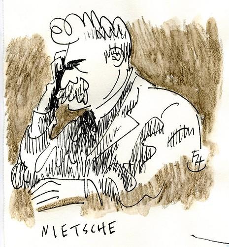 Friedrich Nietzche (1844-1900) by Frank.Hilzerman
