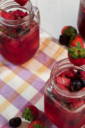 Mixed Berry Basil Lemonade