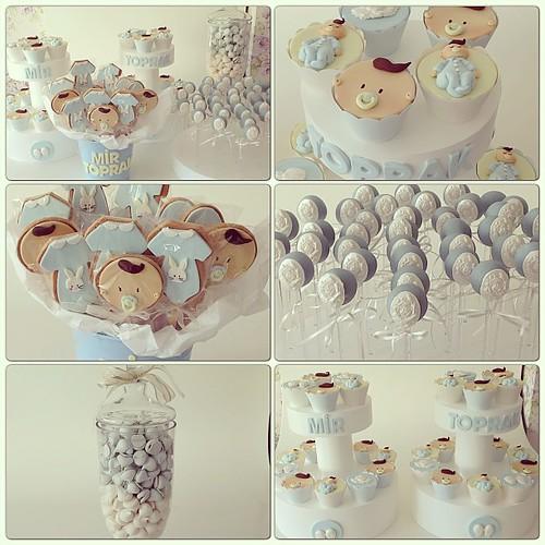 Hosgeldin Mir Toprak... #babyboy #hastaneodasi #hastaneodasiikram #hastaneodasisusleme #bebekkurabiyesi #babycookies #babyshower #cupcake #cakepops #meringue #beze #burcinbirdane