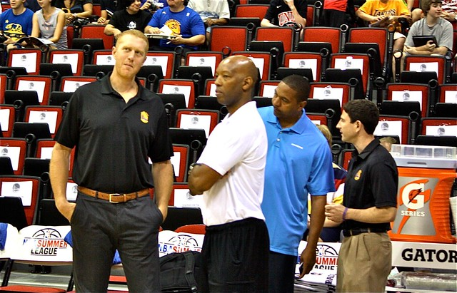 Sam Cassell and Brian Scalabrine - 2013 NBA Summer League