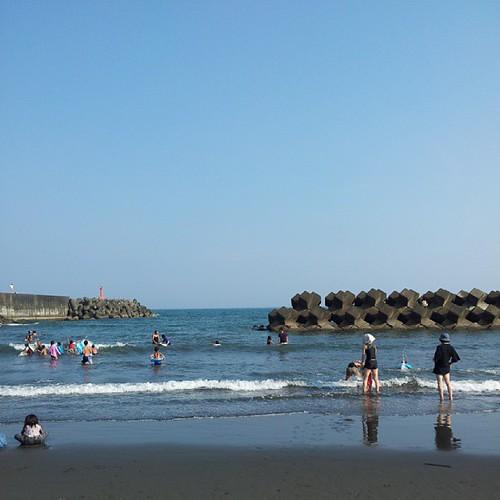 今日も海水浴! 暑かったので気持ち良かった。