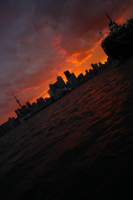 The sun sets on Toronto