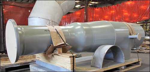 Duct Work and Expansion Joint Assembly Custom Designed by U.S. Bellows for an Oil Refinery in California