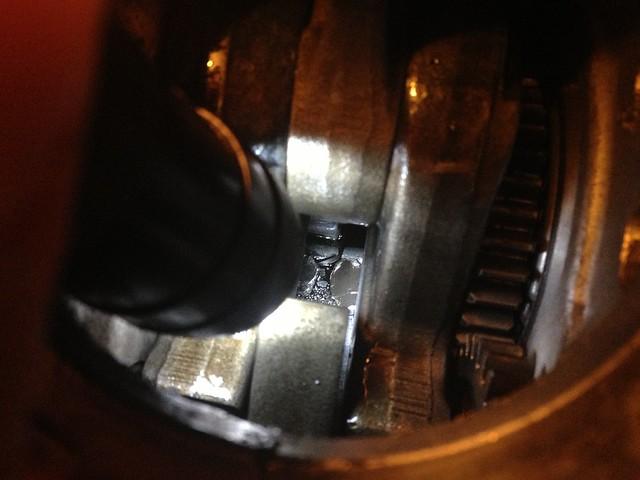 Debris in crankcase