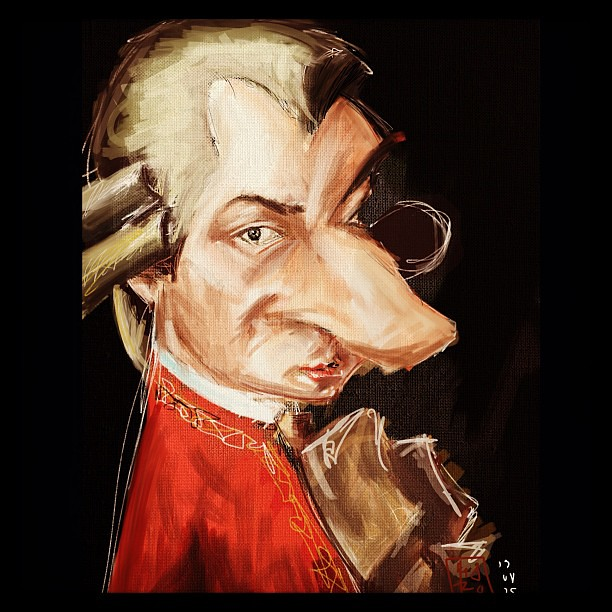 #eurocon digital painting #ipad #jottouch4 #mozart
