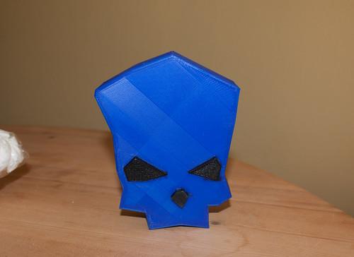 Blauer Totenkopf