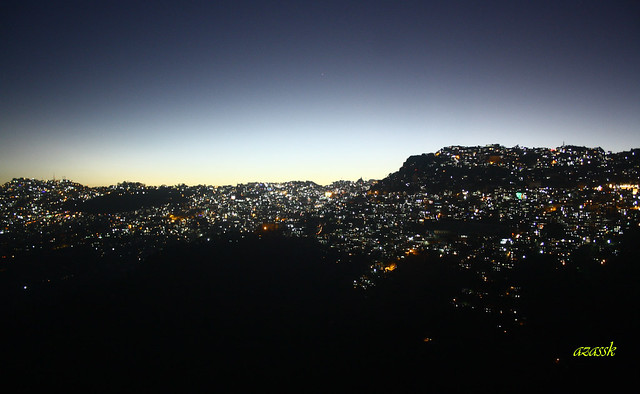 Aizawl City by night (A city on the hill)
