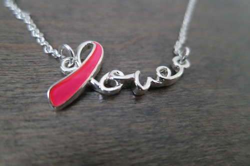 Avon Love Ribbon Breast Cancer Awareness Necklace