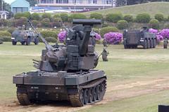 下志津駐屯地へ87式自走高射機関砲を見に行く