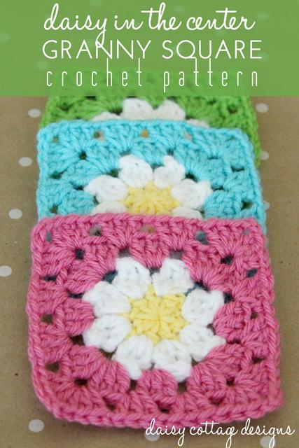 Daisy Granny Square Crochet Pattern - Daisy Cottage Designs