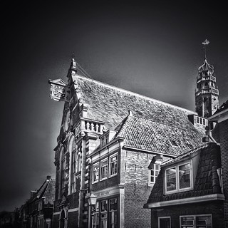 Old buildings remain...  #iphoneography #hdriphoneographer #hdriphonegraphy #hdriphoneography #hdr #netherlands #dutch #iphone5s #hoorn #igersholland #blackandwhiteisworththefight #snapseed #ampt_community #insta_pick_bw #bws_worldwide #bw #bw_scenes #mys
